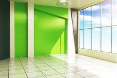 Modern green interior Stock Photography