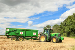 A modern green  john deere tractor Royalty Free Stock Photography