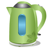 Modern green kettle Stock Images