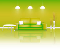 Modern Green Living Space Royalty Free Stock Photography