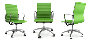 Modern green office chair on white Stock Photography