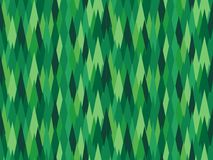 Modern green rhombic seamless pattern Earth covered with pines Royalty Free Stock Images