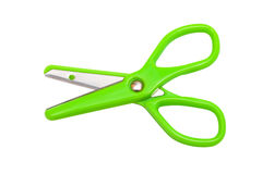 Modern green scissors Royalty Free Stock Photography