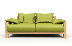 Modern green sofa Stock Photos