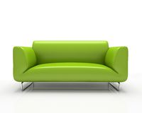 Modern green sofa Stock Image