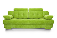 Modern green sofa isolated on white background. Illustration of a Modern Sofa Royalty Free Stock Photography
