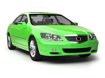 Modern green sport car. Front view of new glossy auto. 3d illustration on white background. For more of this car and other models please check my portfolio Stock Images