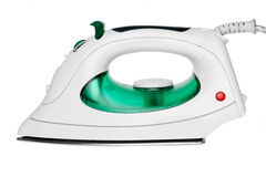 Modern green steam flat-iron. Royalty Free Stock Image