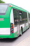 Modern green urban bus Stock Photo