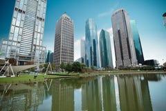 Modern greenbelt park in shanghai Stock Photography