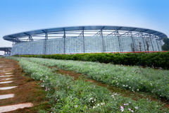 Modern greenhouse building Royalty Free Stock Photos