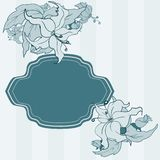 Modern greeting card. With flowers and place for text Vector Illustration