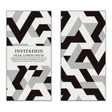 Modern greeting card, invitation or wedding with geometric ornam Stock Image