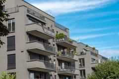 Modern grey apartment buildings seen in Berlin Stock Photo