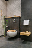 Modern grey bathroom Royalty Free Stock Photos