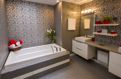 Modern grey bathroom Stock Photography
