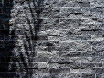 Modern grey brick wall texture background stock image