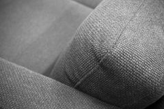 Modern grey, couch with rough weaving, detail Stock Photo