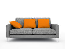 Modern grey sofa Stock Images