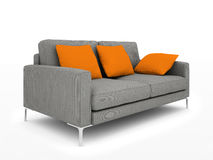 Modern grey sofa Stock Photos