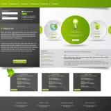 Modern grön ecowebsite Arkivbilder