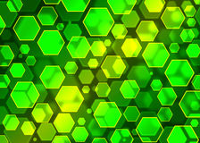 Modern groen abstract behang, hexagon bokeh Het effect van Bokeh Royalty-vrije Stock Fotografie