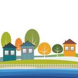 Modern Groen Eco-Kwart stock illustratie