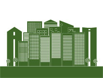Modern Groen Stadsconcept Royalty-vrije Stock Fotografie