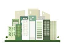 Modern Groen Stadsconcept vector illustratie