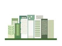 Modern Groen Stadsconcept stock illustratie