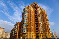 Modern groot flatgebouw Royalty-vrije Stock Fotografie