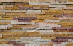 Modern grov tegelstentexturvägg, färgrik grov backg för tegelstenvägg Royaltyfri Bild