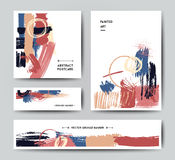 Modern grunge brush postcard template Stock Image