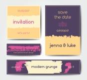 Modern grunge brush postcard template Royalty Free Stock Images