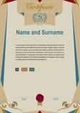 Modern grunge certificate. Royalty Free Stock Image
