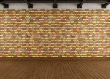 Modern grunge interior with brick wall Stock Photography