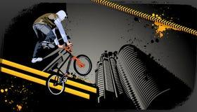 Modern grunge stedelijk grafisch ontwerp Stock Foto