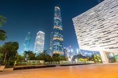 Modern guangzhou at night royalty free stock photos