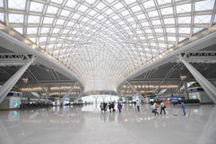 The modern Guangzhou railway station Stock Photography