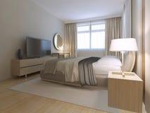 Modern guest bedroom Stock Image