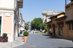 Modern guest house in the middle of the square #5. Salsomaggiore Italy Royalty Free Stock Images