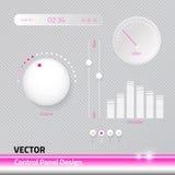Modern gullig uppsättning för vektormappkontrollbord Royaltyfri Bild