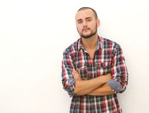 Modern guy with short hair and beard Royalty Free Stock Photo