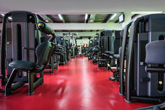 Modern gym interior with equipment Stock Photo