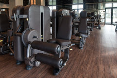 Modern Gym Interior With Equipment Stock Photography