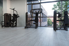 Modern Gym Interior With Equipment Royalty Free Stock Images
