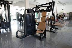 Modern Gym Interior With Equipment Stock Photos