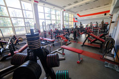 Modern gym interior Stock Images