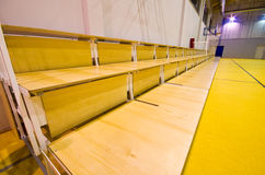 Modern gym interior. Interior of a new modern gym. Portable and easy to fold seats Royalty Free Stock Image