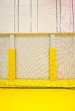 Modern gym interior. Interior of a new modern gym. Safety net wall protection detail Royalty Free Stock Photography